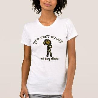 Dark Female Navy Veteran Tees