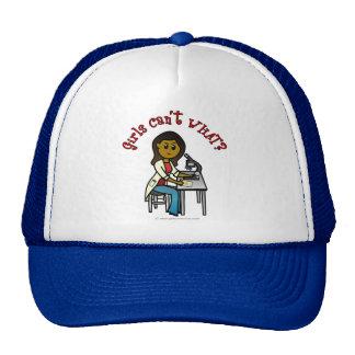 Dark Female Scientist Trucker Hat