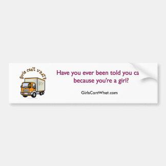 Dark Female Truck Driver Car Bumper Sticker
