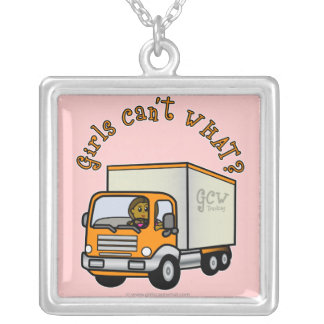 Dark Female Truck Driver Pendant