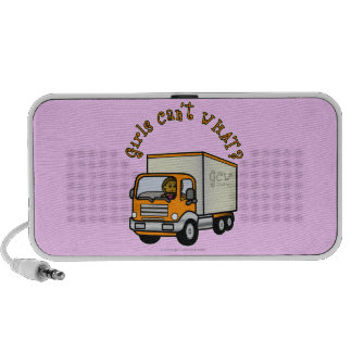 Dark Female Truck Driver Notebook Speakers