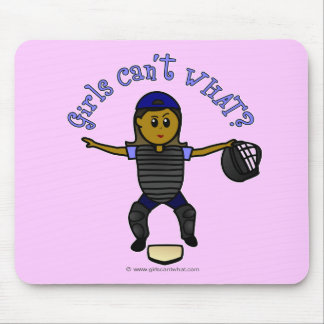 Dark Female Umpire Mouse Pad