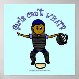 Dark Female Umpire Poster