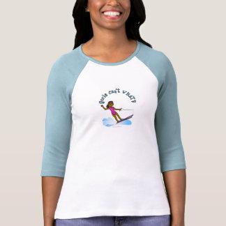 Dark Female Water Skier Tee Shirts
