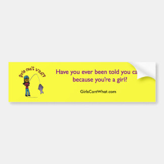 Dark Fishing Girl Bumper Sticker