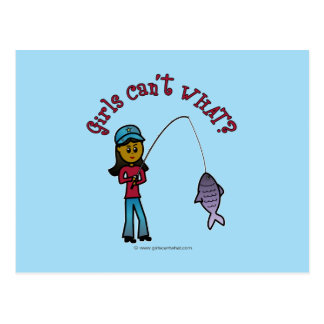 Dark Fishing Girl Postcard