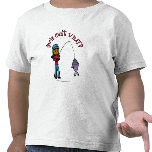 Dark fishing girl shirt zazzle for Girls fishing shirts