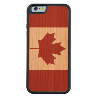 Dark Flag of Canada Carved Cherry iPhone 6 Bumper Case