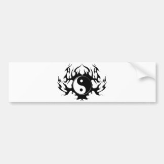 Dark Flame Yin-Yang Bumper Sticker