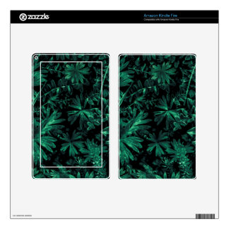 Dark Flora Photo Decals For Kindle Fire
