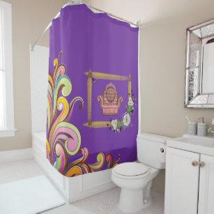 Dark Floral Couch Showercurtain Purple Shower Curtain