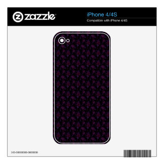 Dark Floral Decals For The iPhone 4S