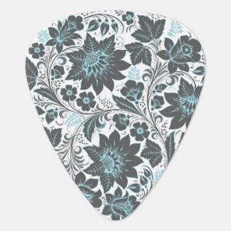 Dark Floral Ornament Guitar Pick