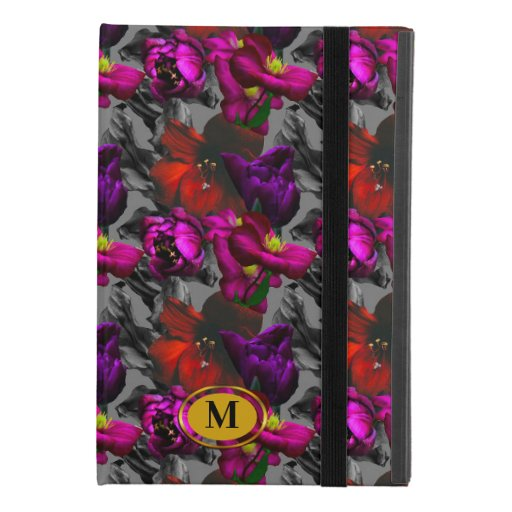 Dark floral purple monogram dream iPad mini 4 case