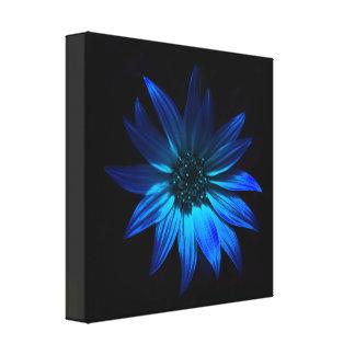 Dark flower - blue canvas print