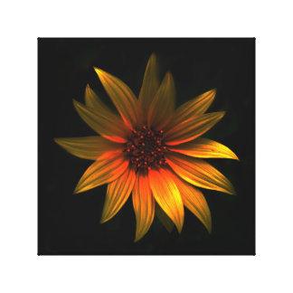 Dark Flower - Orange Canvas Print