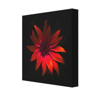 Dark flower - red canvas print