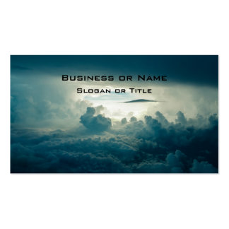Dark Fluffy Clouds Aerial View Double-Sided Standard Business Cards (Pack Of 100)