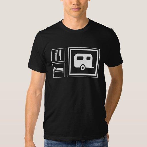 Dark - Food Lodging RV Camper Trailer T-shirt