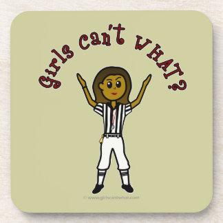 Dark Football Referee Drink Coaster