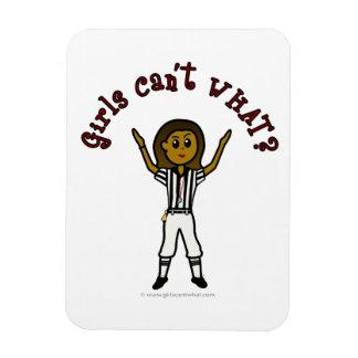 Dark Football Referee Magnet