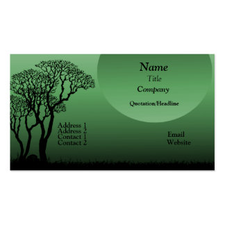 Dark Forest Business Card, Forest Green