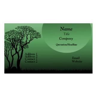 Dark Forest Business Card, Forest Green Business Card