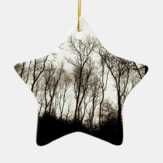 Dark forest ceramic ornament