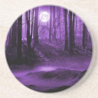 dark forest drink coaster