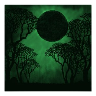 Dark Forest Eclipse Poster print