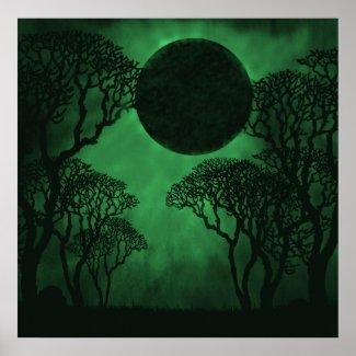 Dark Forest Eclipse Poster print