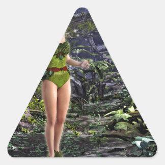 Dark Forest Fairy Triangle Sticker