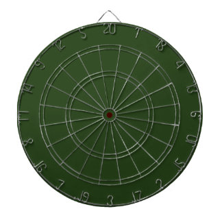 Dark Forest Green Dartboard with Darts