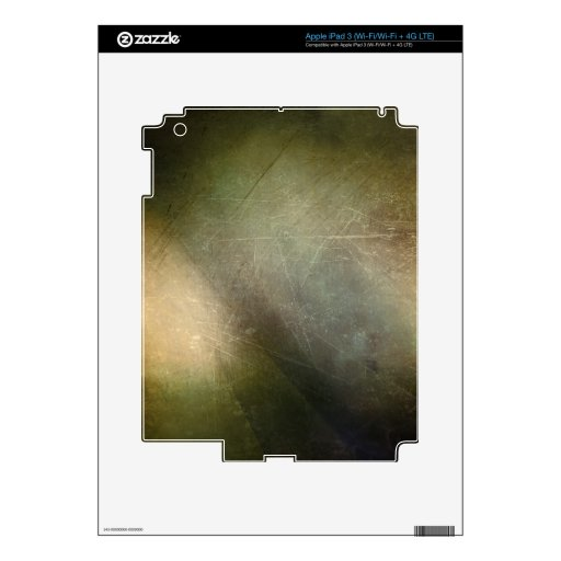 DARK FOREST GRUNGE MULTI-COLORED BACKGROUNDS DIGIT iPad 3 SKIN
