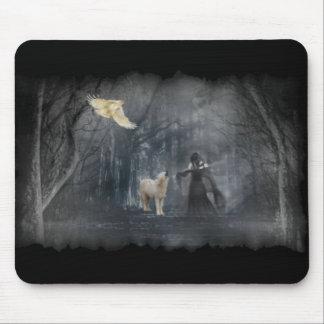 Dark Forest Path Mousepad