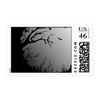 dark forest postage stamp