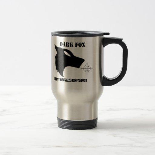 DARK FOX CROSS, http://www.zazzle.com/darkfox 15 Oz Stainless Steel Travel Mug