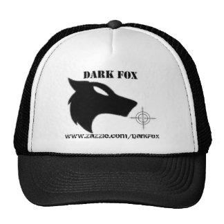 DARK FOX CROSS, www.zazzle.com/DarKFoX Mesh Hat