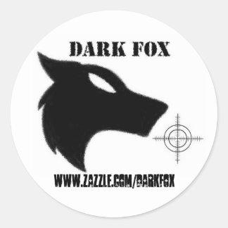 DARK FOX crosshair Round Sticker