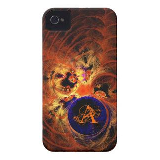 Dark Fractal Monogram iPhone 4 Cases