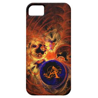 Dark Fractal Monogram iPhone SE/5/5s Case