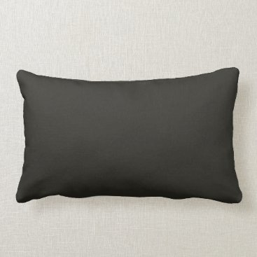 Professional Business Dark French Steel Grey 11a Color Only Custom Lumbar Pillow