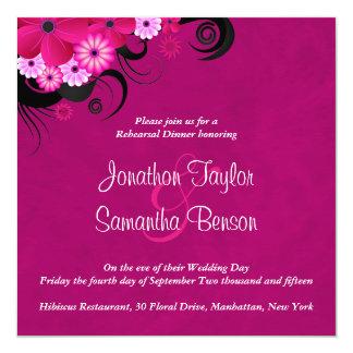 "Dark Fuchsia 5.25"" Wedding Rehearsal Dinner Invite"