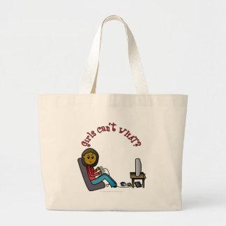 Dark Gamer Girl Tote Bags