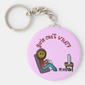 Dark Gamer Girl Keychain