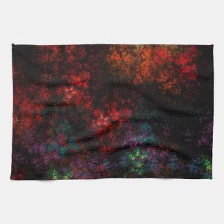 Dark Garden Fractal Kitchen Towels