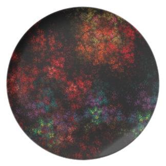 Dark Garden Fractal Party Plate