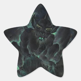 Dark Gargoyle Star Sticker