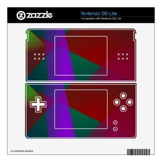 Dark Geometric Abstract Design Decal For DS Lite