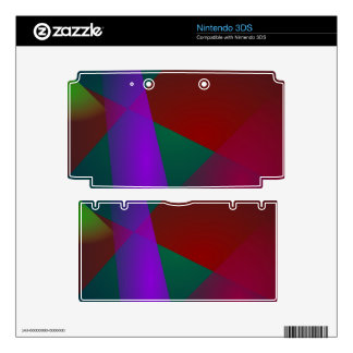 Dark Geometric Abstract Design 3DS Decal